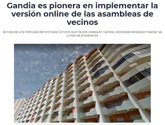 CADENA SER- GANDÍA PIONERA EN JUNTAS ONLINE